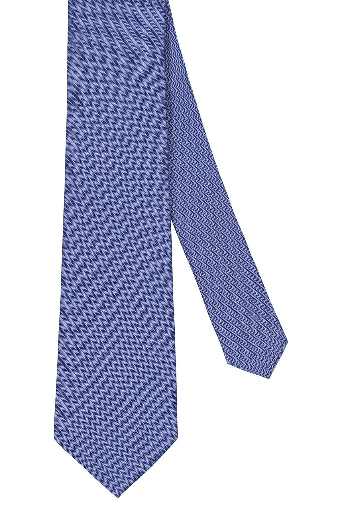 Corbata Calvin Klein, seda mezcla, color azulino trama diagonal.