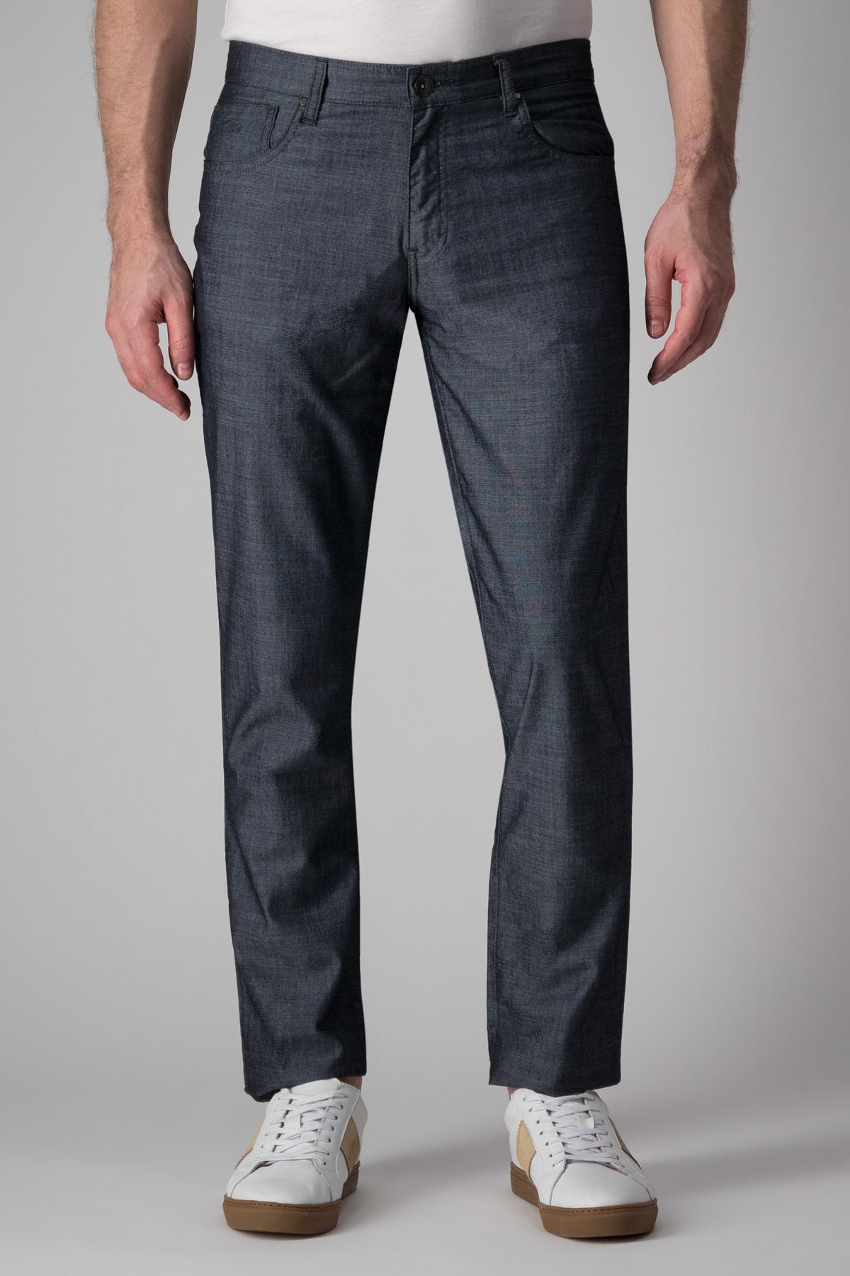 Pantalón Calderoni, modelo 5 bolsillos color azul.