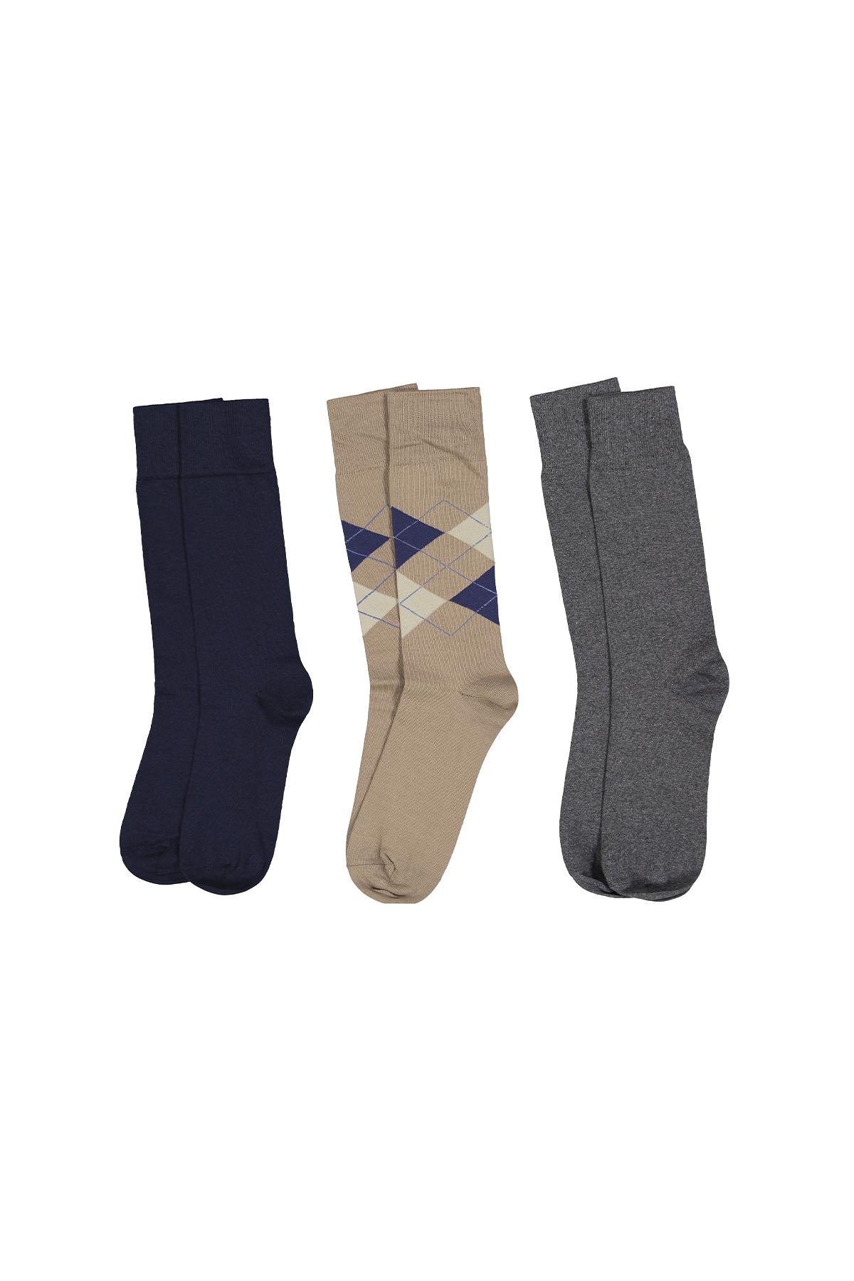 Calcetines marca Robert´s  3 pares en color gris,azul y marrón.