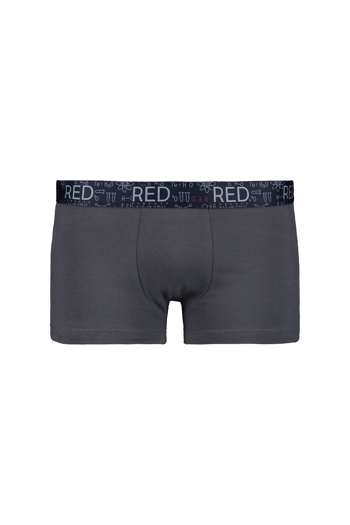 Boxers marca RED color gris y azul estampado.