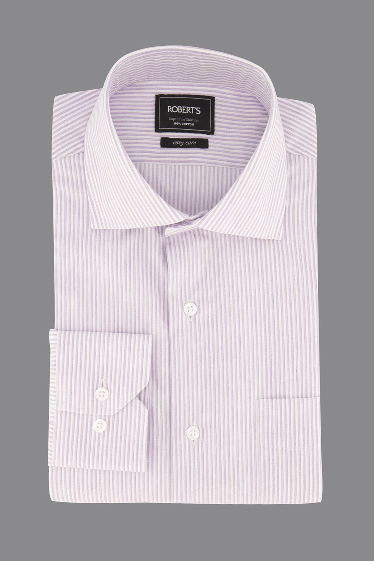 "Camisa Robert´s,  Regular fit, ""Easy Care"" rayada lila."