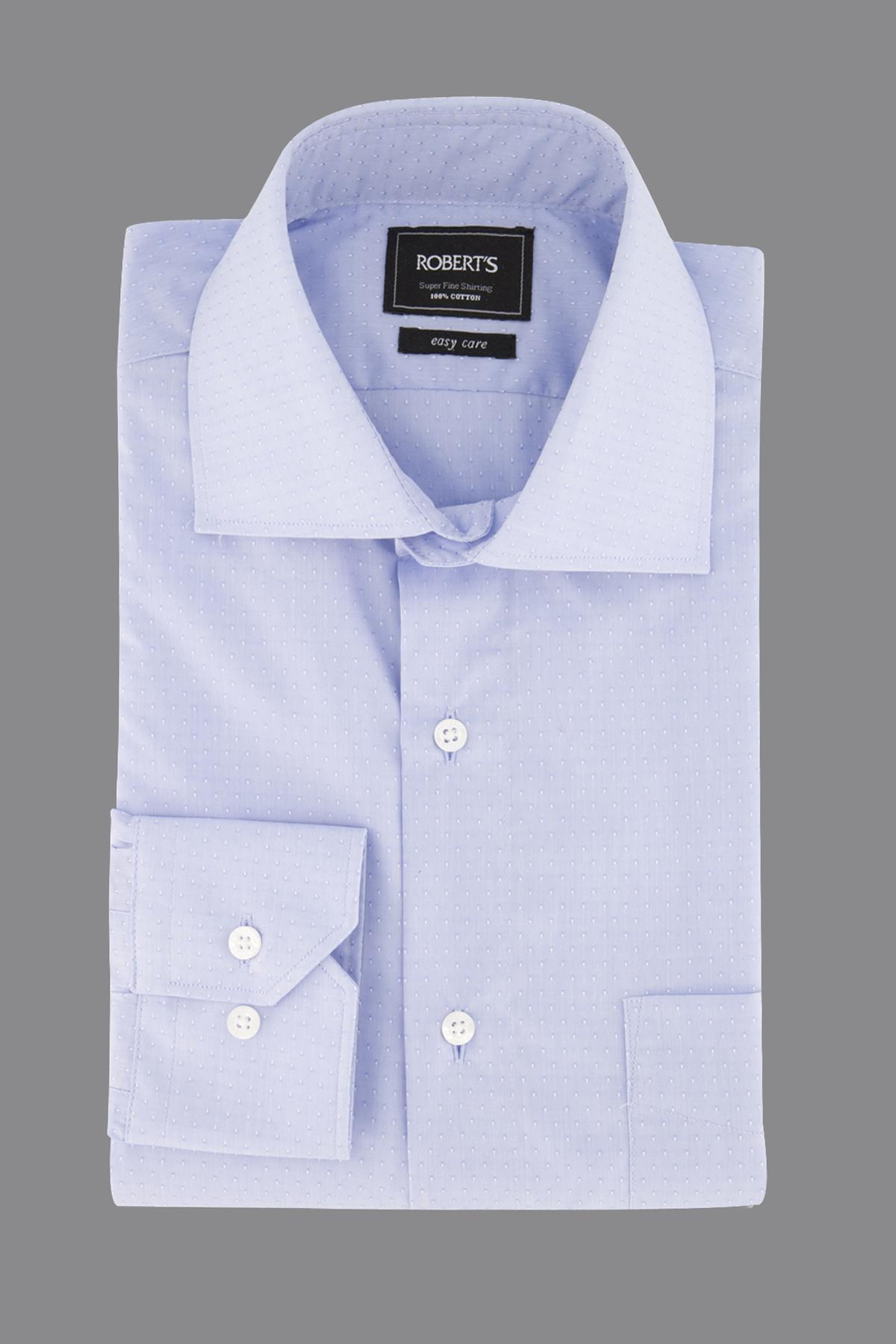 "Camisa Robert´s,  Regular fit, Easy Care"" jacquard celeste"
