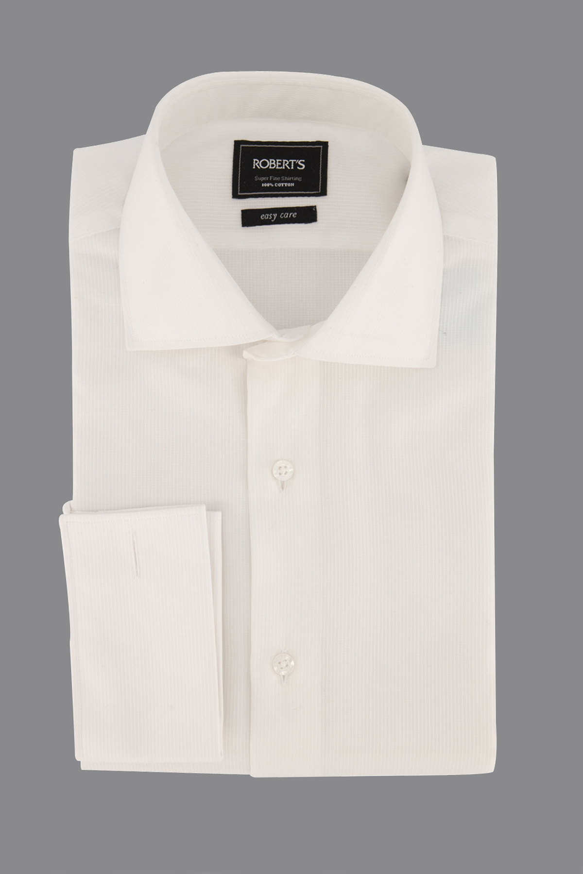 "Camisa Robert´s,  Regular fit, ""Easy Care"" jacquard blanco"