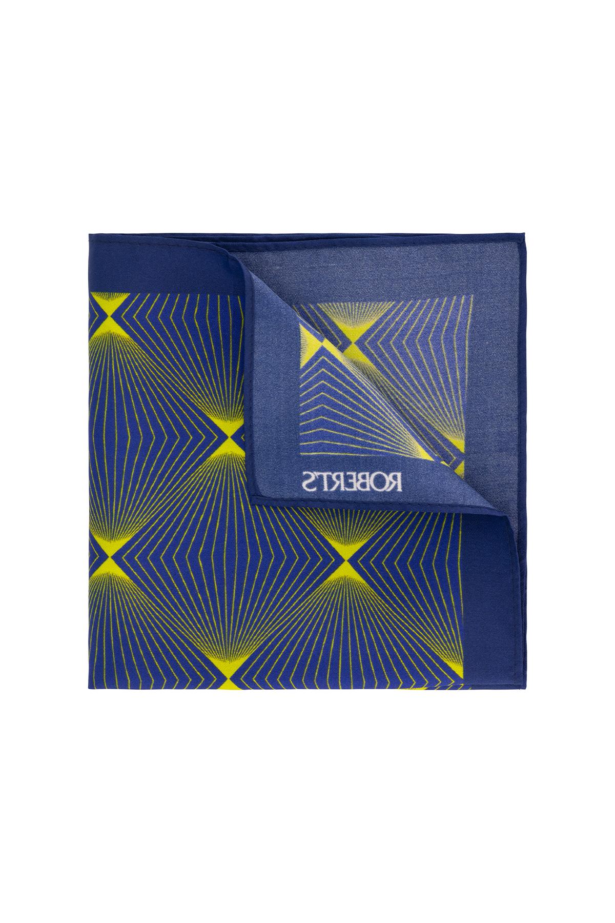 Pañuelo marca Robert´s color azul .
