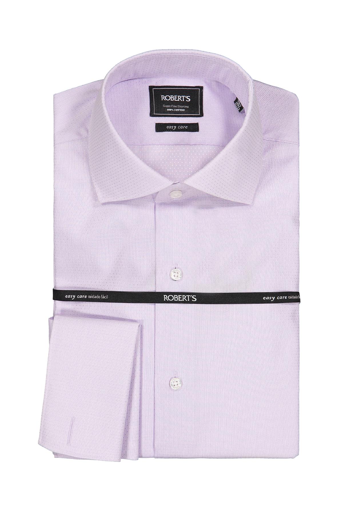 """Camisa Robert´s, slim fit, Easy Care"""" micro trama color lila."""