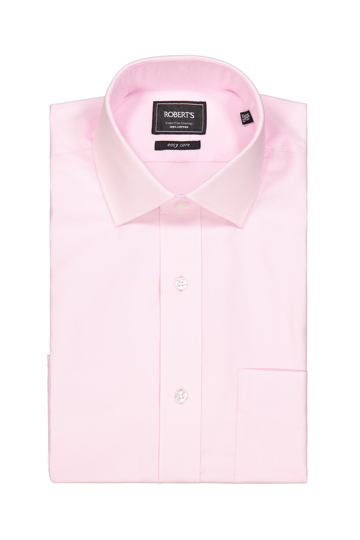 "Camisa Robert´s, slim fit, Easy Care"" poplin rosa lisa."