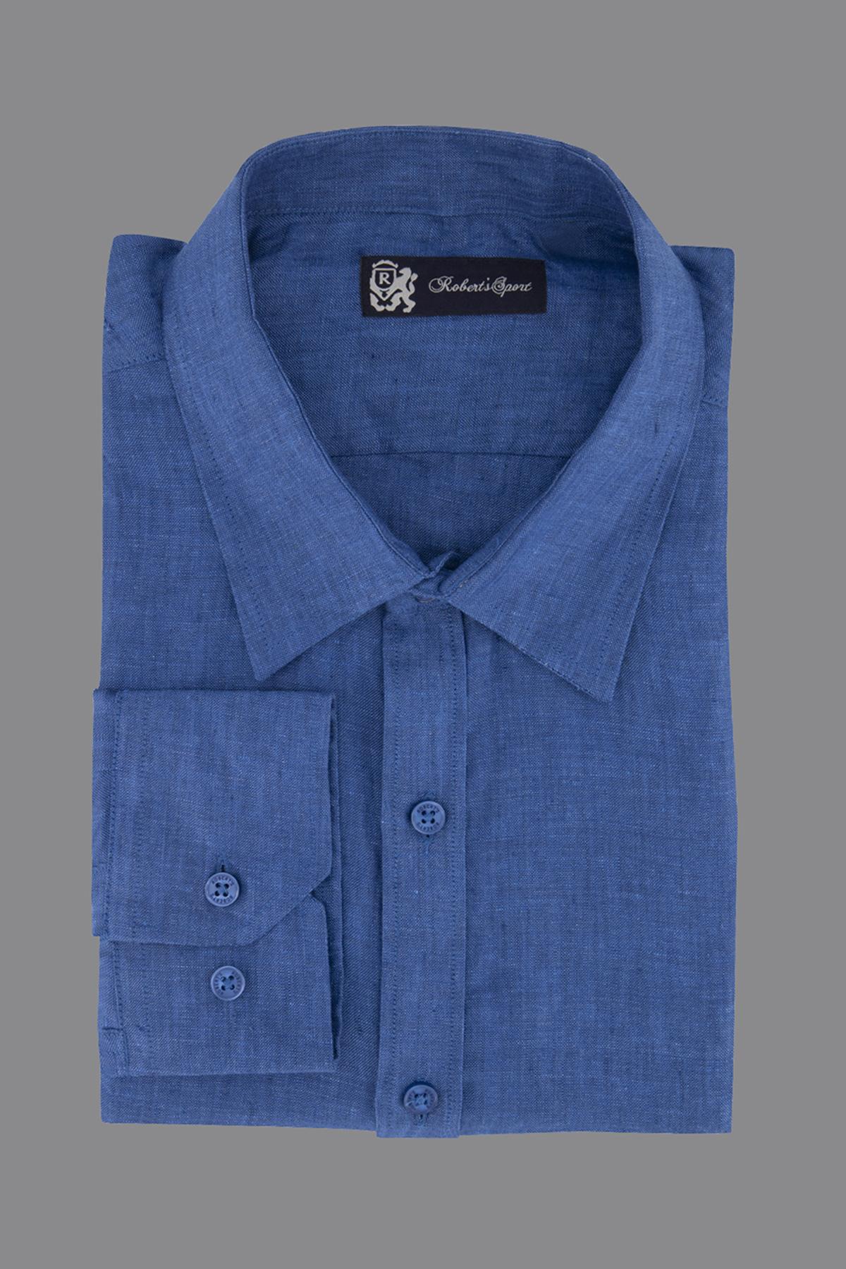 Camisa Leicester azul
