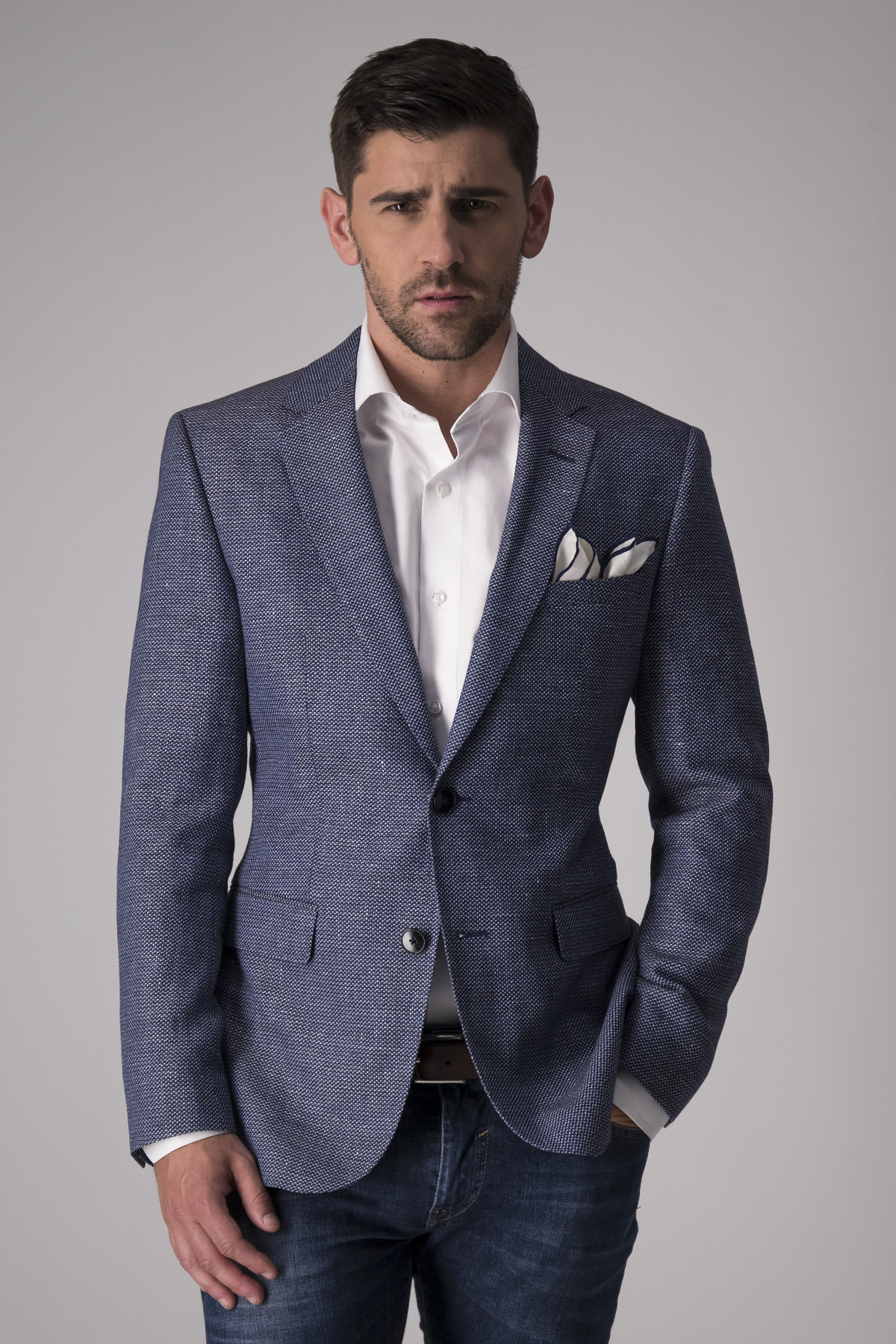 Saco sport Hugo Boss textura azul