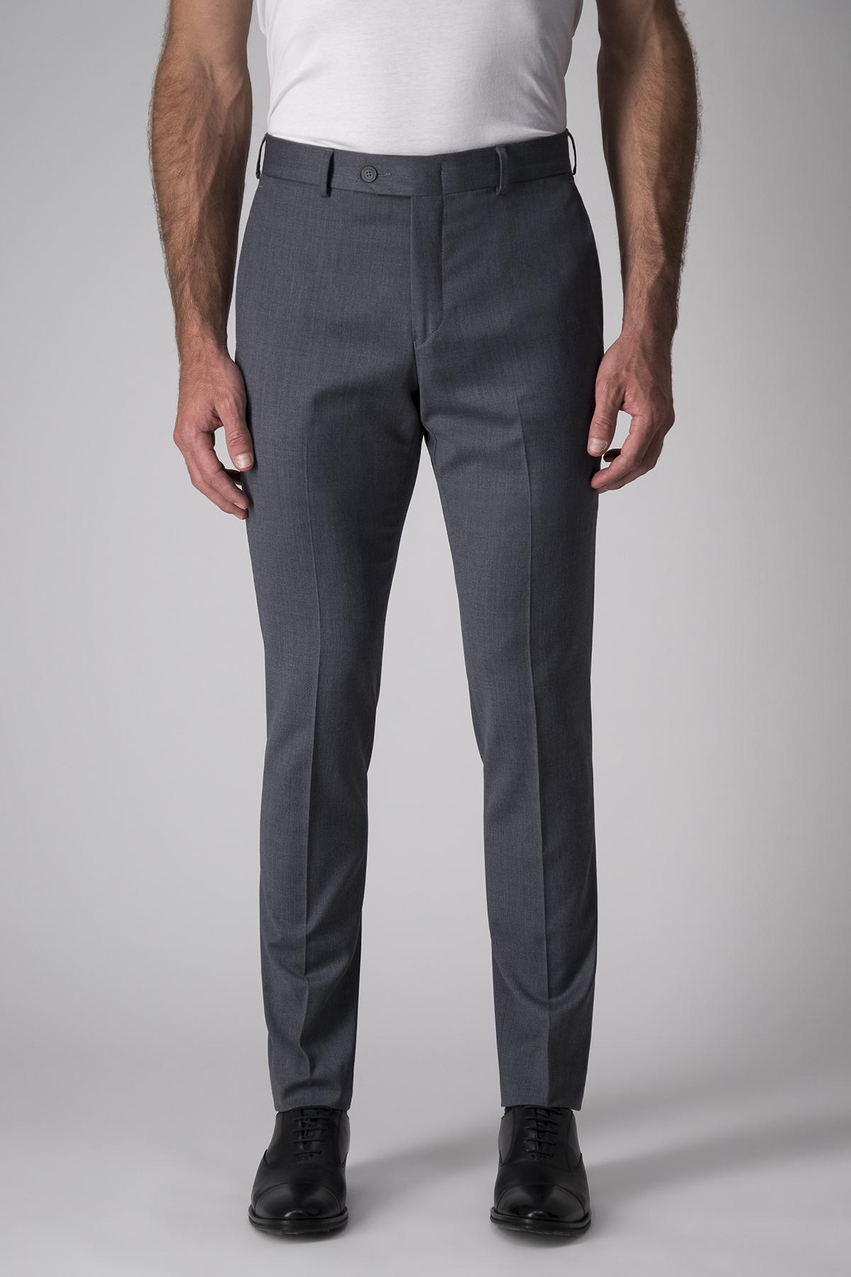 Pantalón Robert´s color gris medio, lana y elastano- stretch
