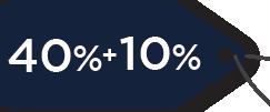 40%+10%